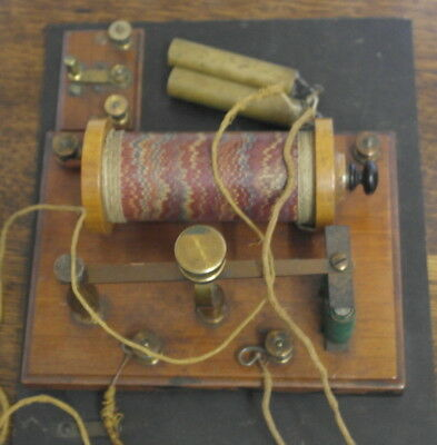 antique wood and brass ELECTRIC SHOCK MACHINE