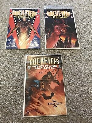 The ROCKETEER MAGAZINES , COMPLETE 3 ISSUE SERIES 1988