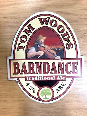 Barndance Beer Pump Clip Tom Woods Brewery Folk Traditional Fiddler Dancing NEW