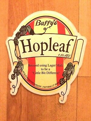 Hopleaf Real Ale Beer Pump Clip: Buffy's Brewery Norfolk - Original Vintage Clip