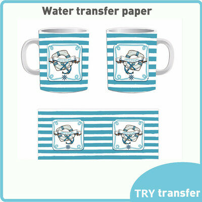 5x A4 Inkjet Water Slide Decal Paper Clear Waterslide Printing Transfer Paper