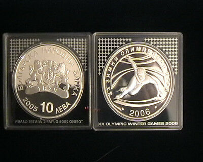 Bulgaria for Torino 2006 Olympics. Nice silver proof coin