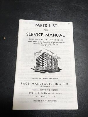 Pace's Bells And Venders Slot Machine Parts Lists And Service Manual (Copy)