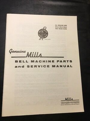 Mills Bell Slot Machine Service Manual And Repair Parts Price List