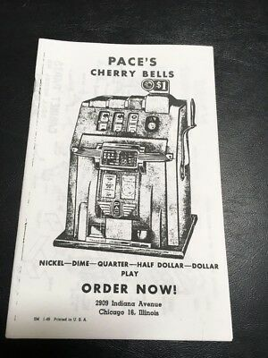 Pace's Cherry Bells Slot Machine Parts Lists And Service Manual (Copy)