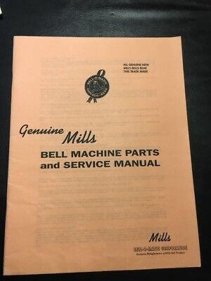Pink Covers Mills Bell Slot Machine Service Manual And Repair Parts Price List