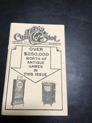 Issue # 34 dated November 1977 THE COIN SLOT