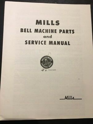MILLS BELL SLOT MACHINE SERVICE MANUAL AND REPAIR PARTS PRICE LIST (a)
