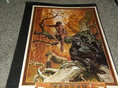 Tarzan Of The Apes Poster  1978 Give Away By Danton Burroughs John Solie Artist