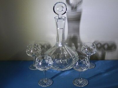Vintage Decanter 4 Liquor Crystal Glasses, Excellent Condition ...
