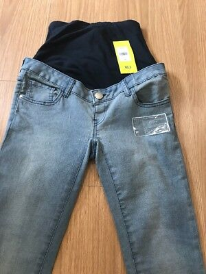 Mothercare Maternity Jeans   Size 8R Skinny Super Stretchy   Under/Over the Bump