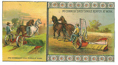 ca 1885 ad McCormick daisy reaper and iron mower