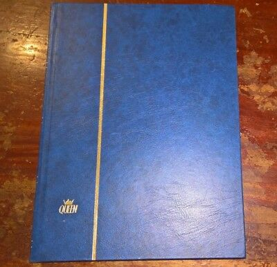 Queen Large A4 Stockbook - Stamp Album for Stamps 24 White Pages