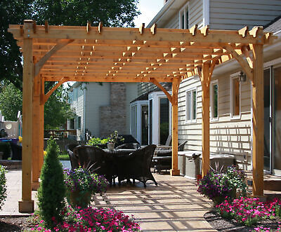 Outdoor Living Today Breeze 13 Ft. x 21.5 Ft. Solid Wood Pergola