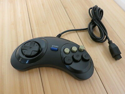 Generic 6 Button Game Controller for SEGA Genesis Black Tested & Working