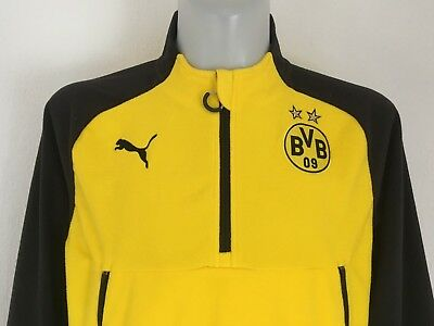 Borussia Dortmund Yellow/black Training Fleece By Puma Size Men's Medium New