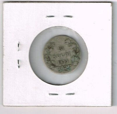 1833 Italian States 10 Soldi Silver Coin .666 Fine Silver! Low Mintage Coin!