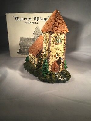 Department 56 Dickens Village Miniatures Ivy Covered Church Retired 1988