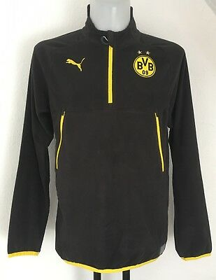 Borussia Dortmund Black Training Fleece By Puma Size Men's Medium Brand New