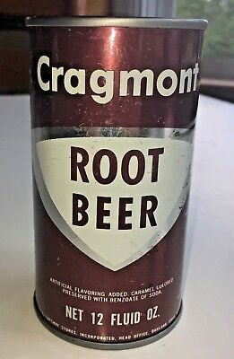 Cragmont Root Beer Can1960's FLAT TOP UNOPENED/EMPTY Vintage and rare. SAFEWAY