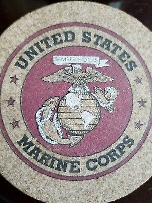 Marine Corps Coaster Set