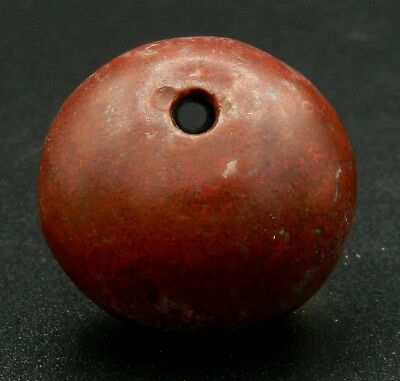 KYRA MINT - BIG Ancient Jasper Bead PENDANT - 26 mm large - Saharian NEOLITHIC
