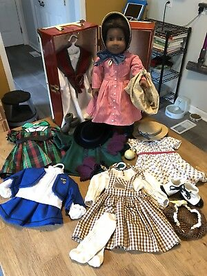 """RARE American Girl Pleasant Co. Addy Walker 18"""" Vintage Doll Clothes Accessories"""
