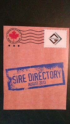 Genervations August 2013 Holstein Dairy Cattle Sire Directory - Canada