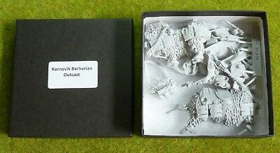 FROSTGRAVE KORNOVIK Barbarian Outcast On Mammoth Resin Boxed and Complete