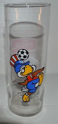 Drinking Glass Sam, the Olympic Eagle Coca-Cola 1980 and Torch/ 1980 Soccer