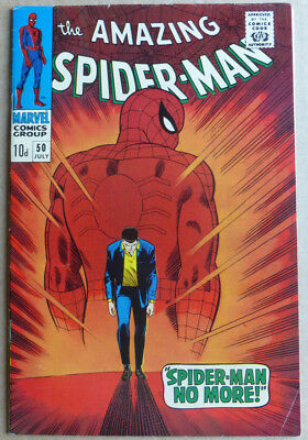 AMAZING SPIDER-MAN #50, 1st APPEARANCE of KINGPIN, VF-