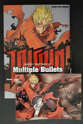 "JAPAN Yasuhiro Nightow: Trigun Anthology Comic ""TRIGUN Multiple Bullets"" W/Card"
