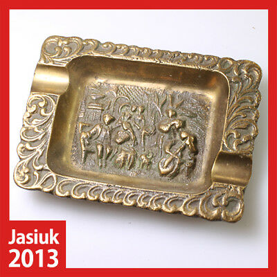old rare vintage antique collectable England Brass Metal Cigarette Ashtray