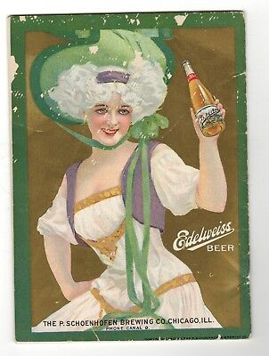 1911  Edelweiss & Seipp's Beer Advertisements Chicago Blackstone Theater Booklet