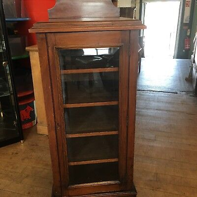 Music / Collectors Cabinet Period Mahogany Floor Standing C 1900s With Key !