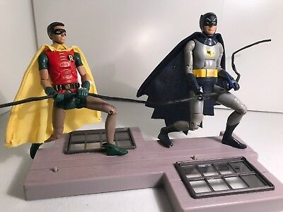 Batman Classic TV Series Batman Robin Action Figures Wall Climb Set Adam West