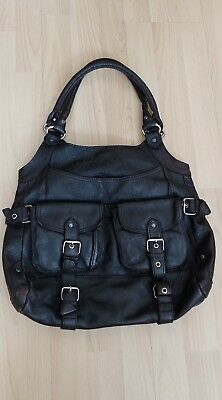 Ted Baker Large Leather Hobo Bag Very Good Condition Rare Design Vintage.