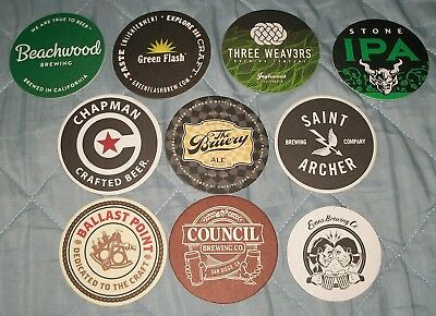 10 Craft Beer Coasters West Coast California Brand New