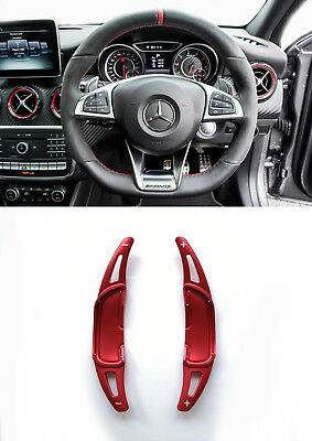 Pinalloy Red Alloy Paddle Shifter Extension For Mercedes Benz AMG A45 CLA GLA