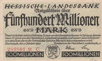 NOTGELD Hessische Landesbank / 50 Milliarden Mark / 1923 / HES11