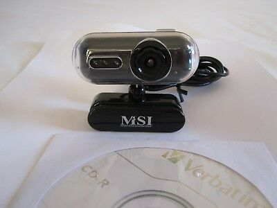 Msi Starcam Clip Retro Webcam Black 0.3Mp Usb With Night Vision And Microphone