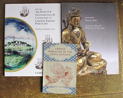 2 Christie's catalogues on Chinese porcelain and Asian art plus V&A museum book