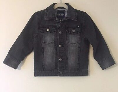 Lucky Brand Kids Toddler Girls Boys Gray Distressed Denim Jean Jacket Size 3T