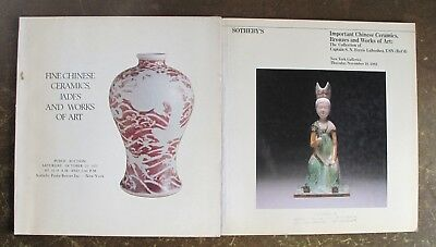2 Sotheby's New York catalogues of Chinese ceramics & Works of Art
