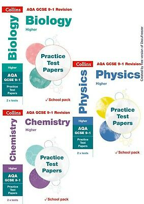 Gcse Aqa 9-1 Science Foundation Practice Exam Papers Physics Chemistry Biology