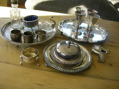 Good Job Lot Assorted Quality Silver Plated Items See All Pictures Over 2.5 Kg