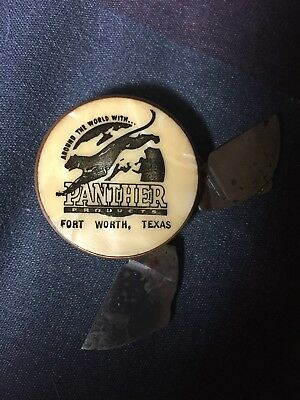 Vintage Panther Products Advertising Knife Ft Worth Texas Panther Oil & Grease