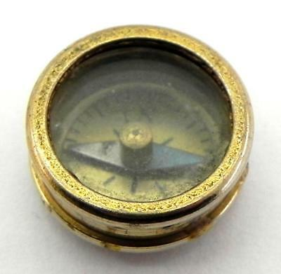 Antique Miniature Button / Escape Compass, Working.