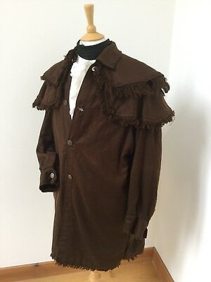 Replica 18th Century Mountain Man Coat. Caped And Fringed.