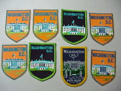 LOT 2 WHITE HOUSE  Patch Embroidered/IRON ON    #B